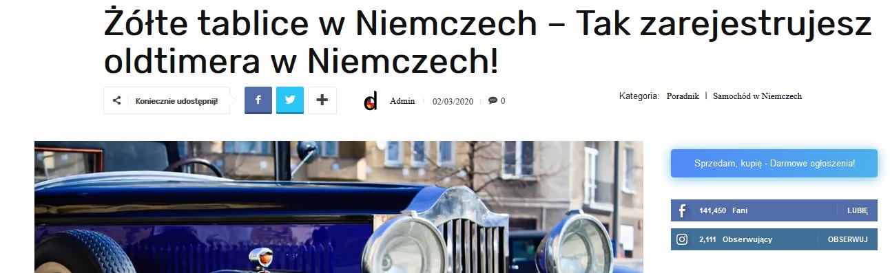 Copywriter z niemieckim, branża motoryzacyjna